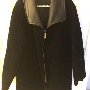St. john ladies velvet reversible zipper jacket